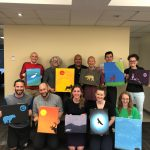 Staff painting workshop
