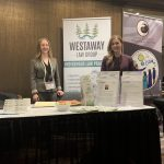 Genevieve Boulay and Leanna Reiss at our Special Chiefs' Assembly booth